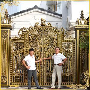 Công trình cổng nhôm đúc Quận 9 Hồ Chí Minh